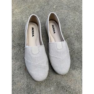 Soda Beige Cushion Insole Tom Slip On Shoes Flats